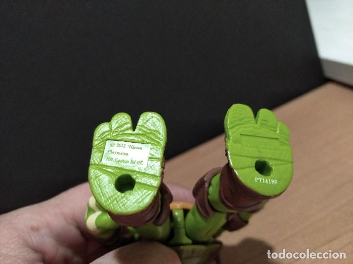 Figuras y Muñecos Tortugas Ninja: FIGURA TORTUGAS NINJAS MICHELANGELO-12cm aprox.-VIACOM PLAYMATES-2012-VER FOTOS-V2 - Foto 6 - 200029271