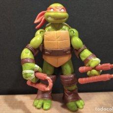 Figuras y Muñecos Tortugas Ninja: FIGURA TORTUGAS NINJAS MICHELANGELO-12CM APROX.-VIACOM PLAYMATES-2012-VER FOTOS-V3. Lote 200029531