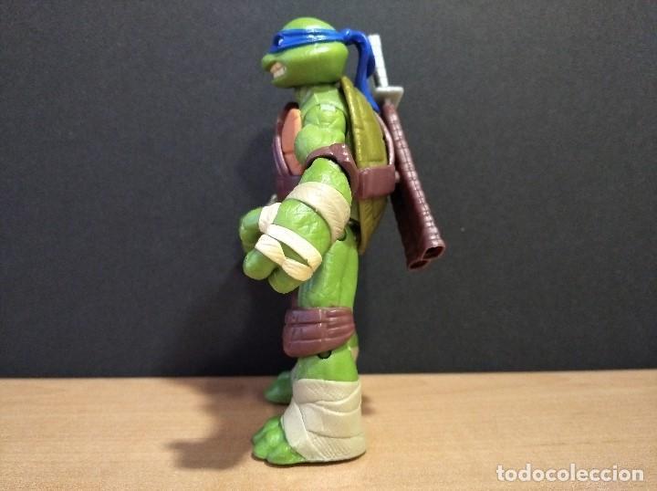 Figuras y Muñecos Tortugas Ninja: FIGURA TORTUGAS NINJAS LEONARDO-12cm aprox.-VIACOM PLAYMATES-2012-VER FOTOS-V1 - Foto 9 - 200030718