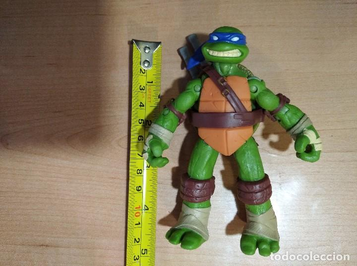 Figuras y Muñecos Tortugas Ninja: FIGURA TORTUGAS NINJAS LEONARDO-12cm aprox.-VIACOM PLAYMATES-2012-VER FOTOS-V1 - Foto 11 - 200030718