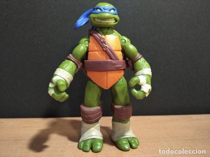 FIGURA TORTUGAS NINJAS LEONARDO-12CM APROX.-VIACOM PLAYMATES-2012-VER FOTOS-V2 (Juguetes - Figuras de Acción - Tortugas Ninja)