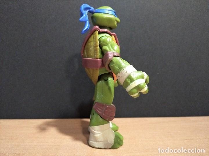 Figuras y Muñecos Tortugas Ninja: FIGURA TORTUGAS NINJAS LEONARDO-12cm aprox.-VIACOM PLAYMATES-2012-VER FOTOS-V2 - Foto 2 - 200030842