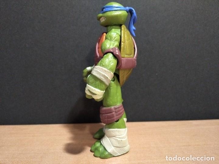 Figuras y Muñecos Tortugas Ninja: FIGURA TORTUGAS NINJAS LEONARDO-12cm aprox.-VIACOM PLAYMATES-2012-VER FOTOS-V2 - Foto 5 - 200030842