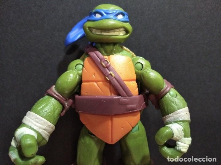 Figuras y Muñecos Tortugas Ninja: FIGURA TORTUGAS NINJAS LEONARDO-12cm aprox.-VIACOM PLAYMATES-2012-VER FOTOS-V2 - Foto 6 - 200030842