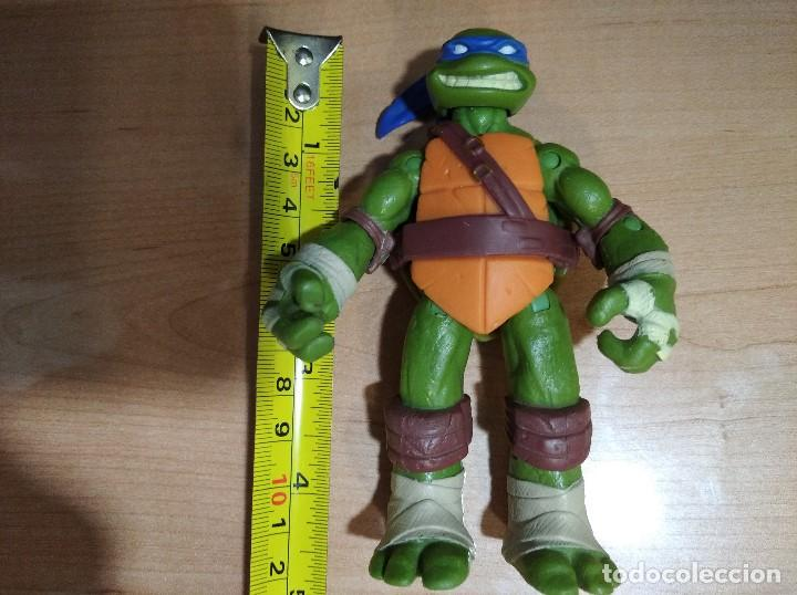 Figuras y Muñecos Tortugas Ninja: FIGURA TORTUGAS NINJAS LEONARDO-12cm aprox.-VIACOM PLAYMATES-2012-VER FOTOS-V2 - Foto 7 - 200030842