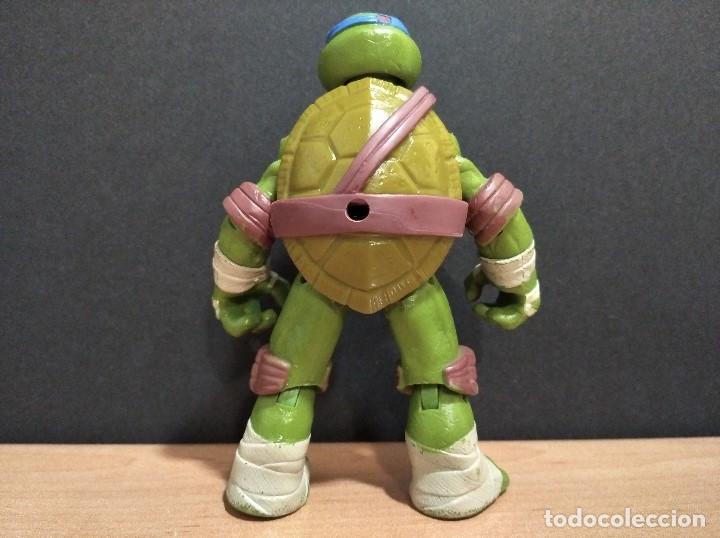 Figuras y Muñecos Tortugas Ninja: FIGURA TORTUGAS NINJAS LEONARDO-12cm aprox.-VIACOM PLAYMATES-2012-VER FOTOS-V3 - Foto 4 - 200030963