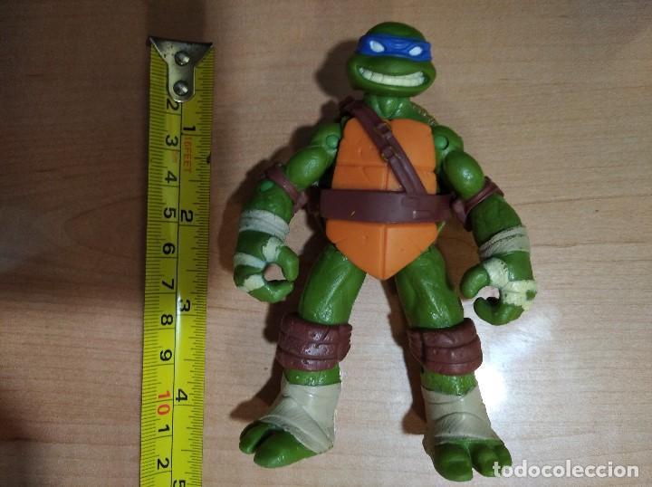 Figuras y Muñecos Tortugas Ninja: FIGURA TORTUGAS NINJAS LEONARDO-12cm aprox.-VIACOM PLAYMATES-2012-VER FOTOS-V3 - Foto 8 - 200030963