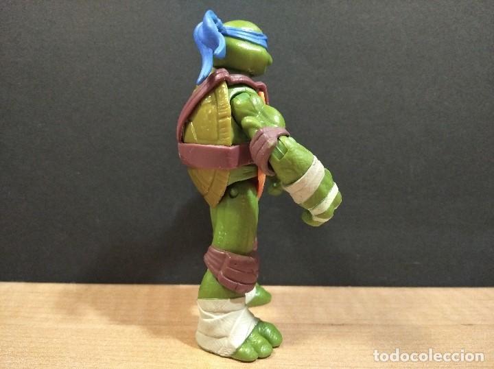 Figuras y Muñecos Tortugas Ninja: FIGURA TORTUGAS NINJAS LEONARDO-12cm aprox.-VIACOM PLAYMATES-2012-VER FOTOS-V4 - Foto 2 - 200031111