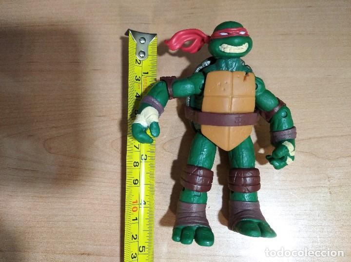 Figuras y Muñecos Tortugas Ninja: FIGURA TORTUGAS NINJAS RAFAEL-12cm aprox.-VIACOM PLAYMATES-2012-VER FOTOS-V1 - Foto 7 - 200031282