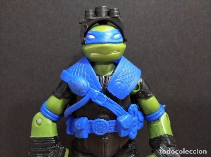 Figuras y Muñecos Tortugas Ninja: FIGURA TORTUGAS NINJAS LEONARDO ZIP LINE ACTION!-12cm aprox.-VIACOM-2013-VER FOTOS-V1 - Foto 3 - 200035390