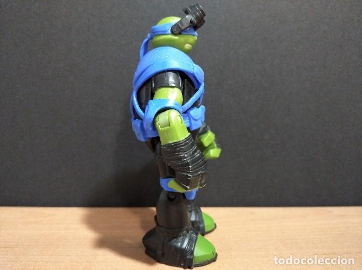 Figuras y Muñecos Tortugas Ninja: FIGURA TORTUGAS NINJAS LEONARDO ZIP LINE ACTION!-12cm aprox.-VIACOM-2013-VER FOTOS-V1 - Foto 4 - 200035390