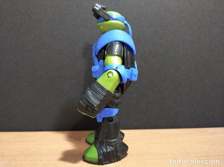 Figuras y Muñecos Tortugas Ninja: FIGURA TORTUGAS NINJAS LEONARDO ZIP LINE ACTION!-12cm aprox.-VIACOM-2013-VER FOTOS-V1 - Foto 6 - 200035390