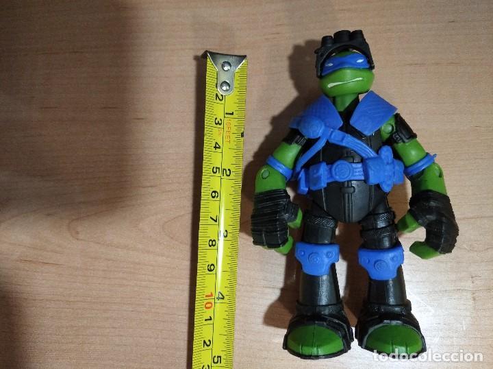 Figuras y Muñecos Tortugas Ninja: FIGURA TORTUGAS NINJAS LEONARDO ZIP LINE ACTION!-12cm aprox.-VIACOM-2013-VER FOTOS-V1 - Foto 8 - 200035390