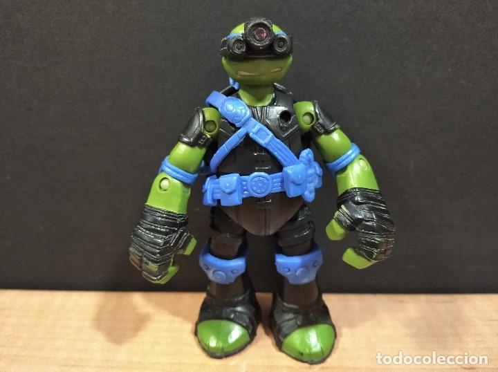 FIGURA TORTUGAS NINJAS LEONARDO ZIP LINE ACTION!-12CM APROX.-VIACOM-2013-VER FOTOS-V2 (Juguetes - Figuras de Acción - Tortugas Ninja)