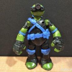 Figuras y Muñecos Tortugas Ninja: FIGURA TORTUGAS NINJAS LEONARDO ZIP LINE ACTION!-12CM APROX.-VIACOM-2013-VER FOTOS-V2. Lote 200035637