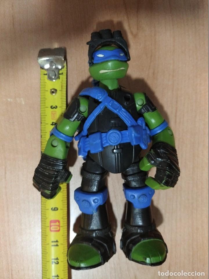 Figuras y Muñecos Tortugas Ninja: FIGURA TORTUGAS NINJAS LEONARDO ZIP LINE ACTION!-12cm aprox.-VIACOM-2013-VER FOTOS-V2 - Foto 8 - 200035637