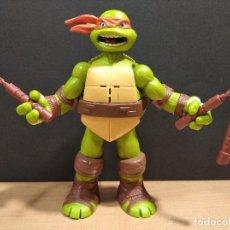 Figuras y Muñecos Tortugas Ninja: FIGURA TORTUGA NINJA MICHELANGELO CON SONIDO-15CM APROX.-VIACOM-2012-VER FOTOS-V1. Lote 200036540