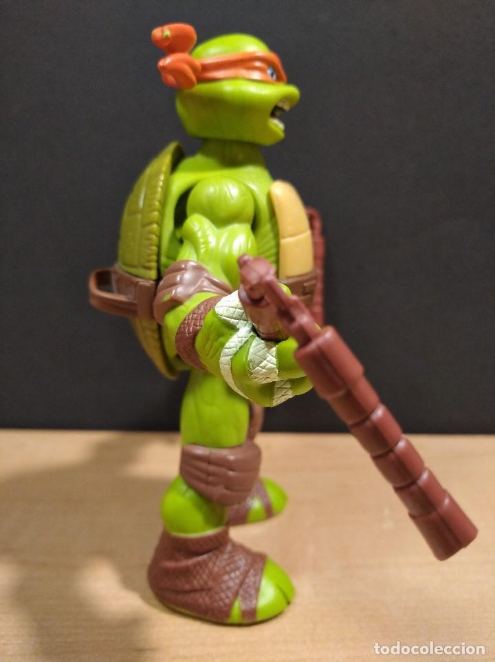 Figuras y Muñecos Tortugas Ninja: FIGURA TORTUGA NINJA MICHELANGELO CON SONIDO-15cm aprox.-VIACOM-2012-VER FOTOS-V1 - Foto 3 - 200036540
