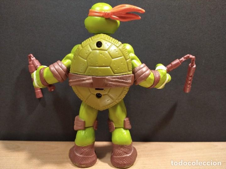 Figuras y Muñecos Tortugas Ninja: FIGURA TORTUGA NINJA MICHELANGELO CON SONIDO-15cm aprox.-VIACOM-2012-VER FOTOS-V1 - Foto 4 - 200036540