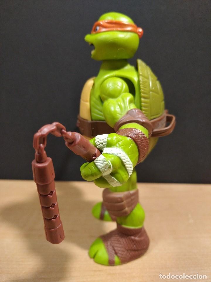 Figuras y Muñecos Tortugas Ninja: FIGURA TORTUGA NINJA MICHELANGELO CON SONIDO-15cm aprox.-VIACOM-2012-VER FOTOS-V1 - Foto 5 - 200036540
