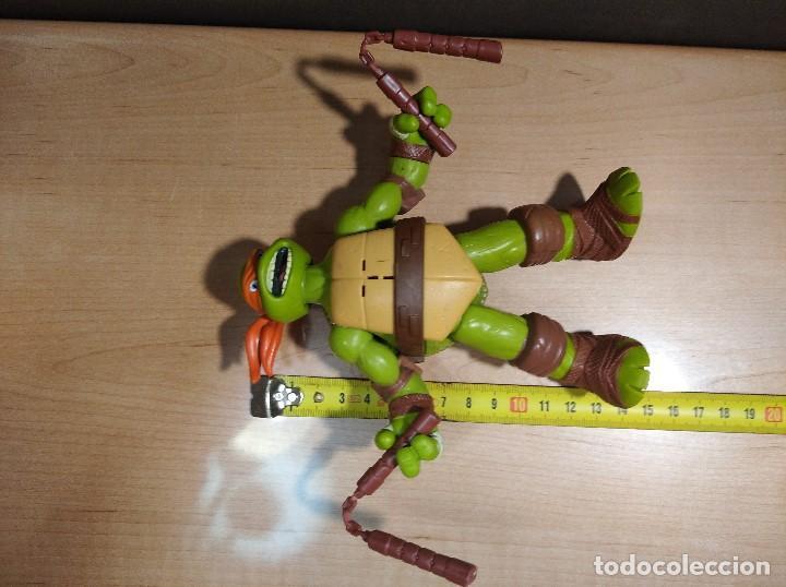 Figuras y Muñecos Tortugas Ninja: FIGURA TORTUGA NINJA MICHELANGELO CON SONIDO-15cm aprox.-VIACOM-2012-VER FOTOS-V1 - Foto 7 - 200036540