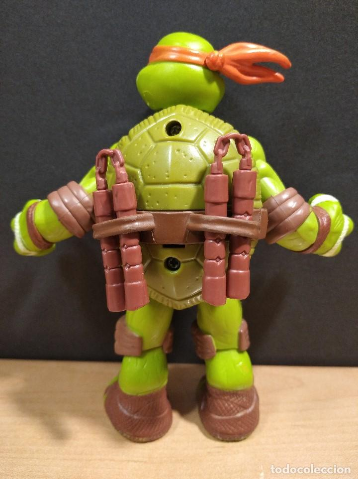 Figuras y Muñecos Tortugas Ninja: FIGURA TORTUGA NINJA MICHELANGELO CON SONIDO-15cm aprox.-VIACOM-2012-VER FOTOS-V1 - Foto 8 - 200036540