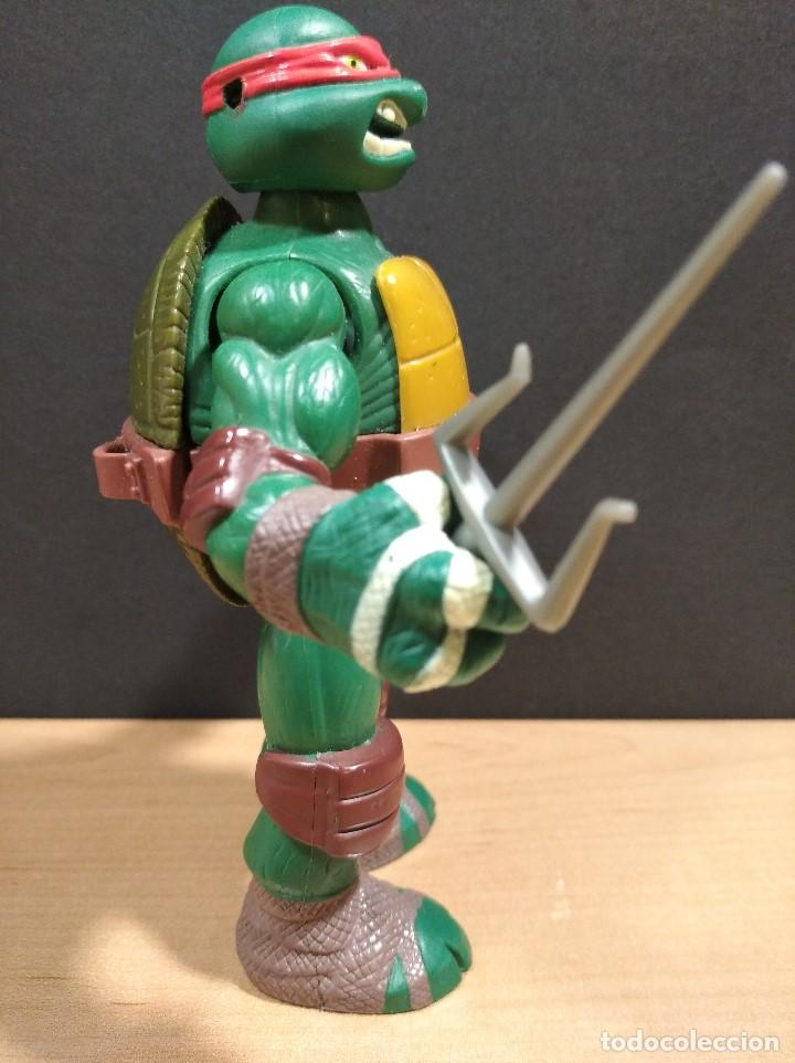 Figuras y Muñecos Tortugas Ninja: FIGURA TORTUGA NINJA RAFAEL CON SONIDO-15cm aprox.-VIACOM-2012-VER FOTOS-V1 - Foto 3 - 200036641