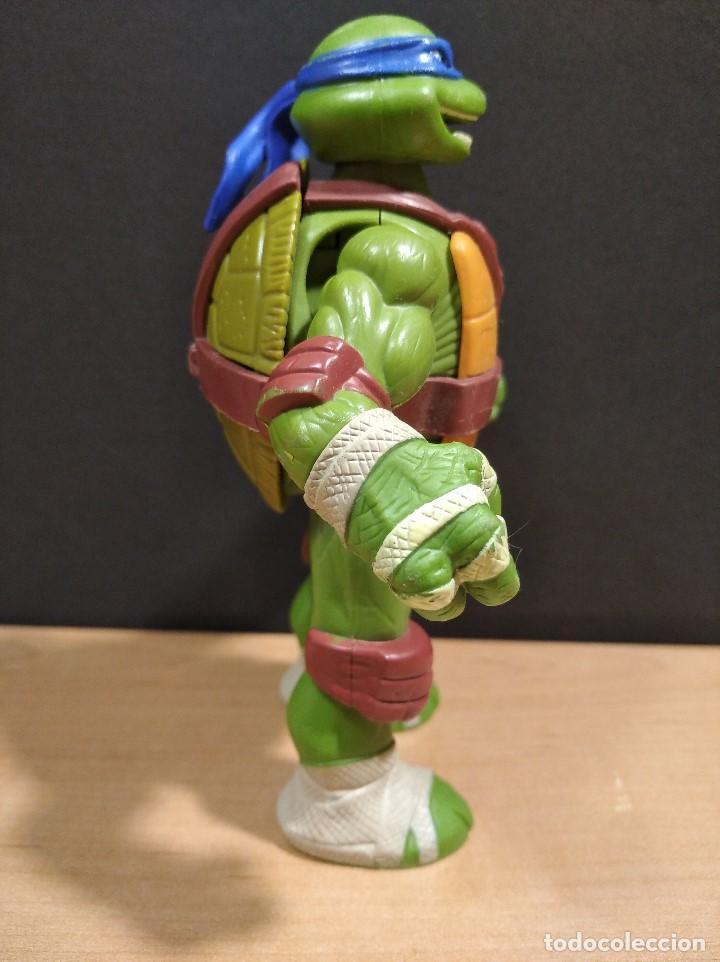 Figuras y Muñecos Tortugas Ninja: FIGURA TORTUGA NINJA LEONARDOCON SONIDO-15cm aprox.-VIACOM-2012-VER FOTOS-V1 - Foto 3 - 200036893