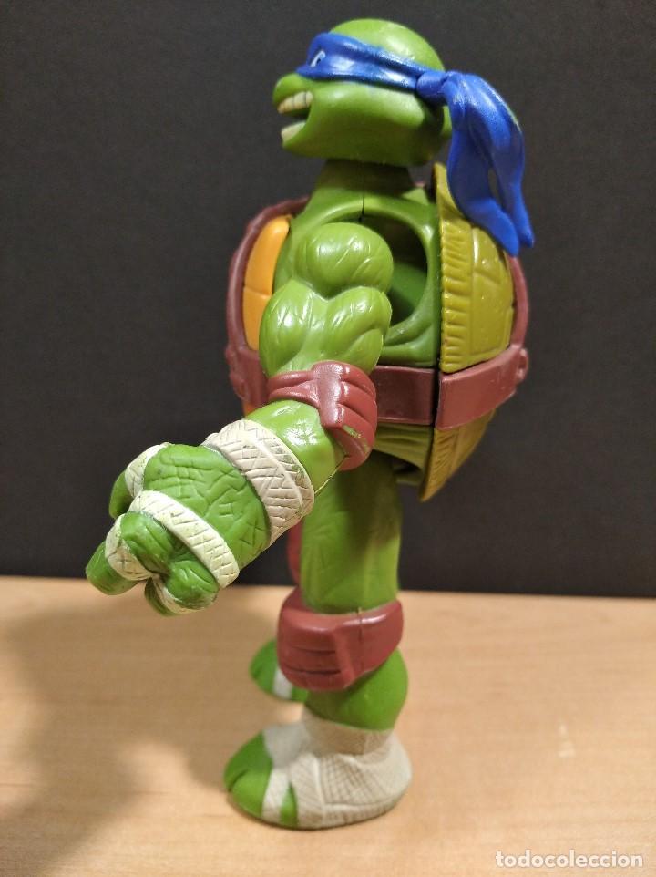 Figuras y Muñecos Tortugas Ninja: FIGURA TORTUGA NINJA LEONARDOCON SONIDO-15cm aprox.-VIACOM-2012-VER FOTOS-V1 - Foto 5 - 200036893