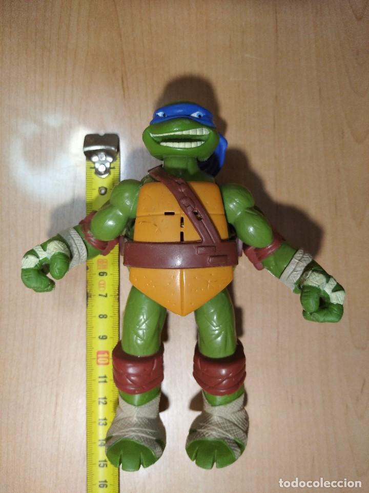 Figuras y Muñecos Tortugas Ninja: FIGURA TORTUGA NINJA LEONARDOCON SONIDO-15cm aprox.-VIACOM-2012-VER FOTOS-V1 - Foto 8 - 200036893