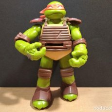 Figuras y Muñecos Tortugas Ninja: FIGURA TORTUGAS NINJAS MICHELANGELO LANZADOR-15CM APROX.-VIACOM-2012-VER FOTOS-V1. Lote 200037842