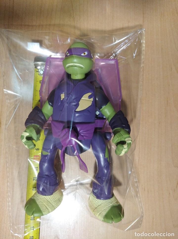 Figuras y Muñecos Tortugas Ninja: FIGURA TORTUGAS NINJAS DONATELO THROW N BATTLE-15cm aprox.-VIACOM-2013-VER FOTOS-V1 - Foto 7 - 200039530