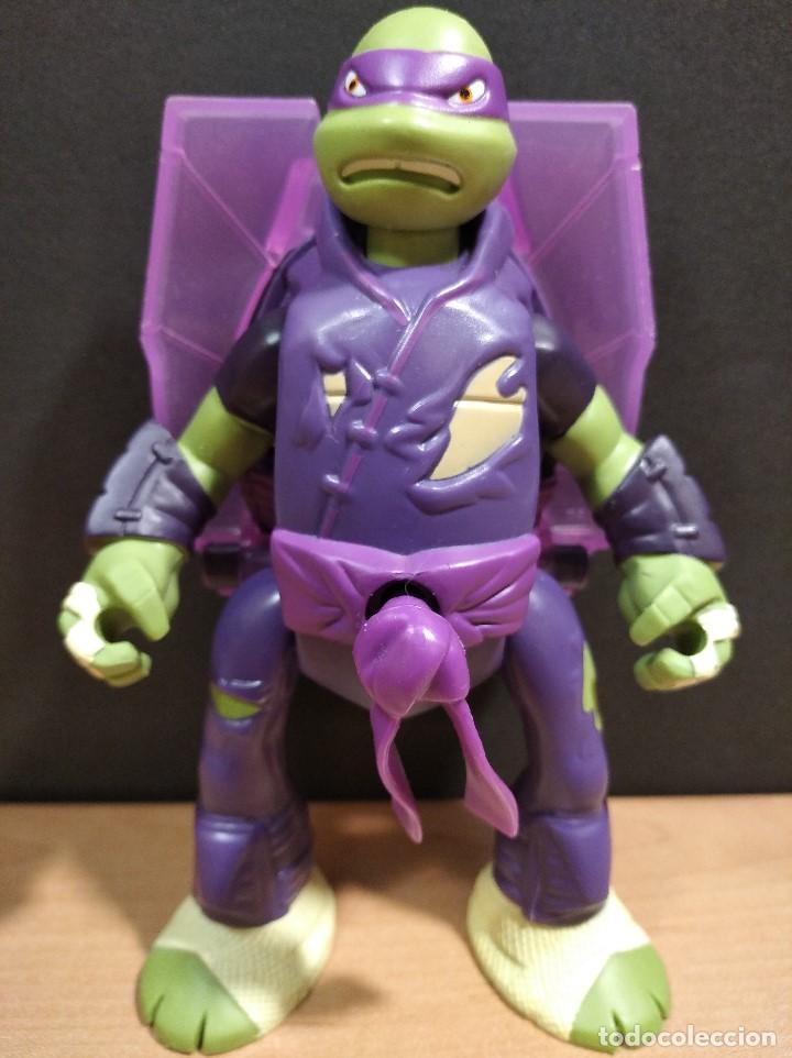 Figuras y Muñecos Tortugas Ninja: FIGURA TORTUGAS NINJAS DONATELO THROW N BATTLE-15cm aprox.-VIACOM-2013-VER FOTOS-V2 - Foto 2 - 200039651