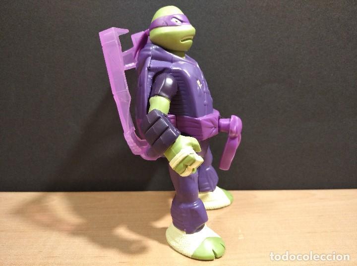 Figuras y Muñecos Tortugas Ninja: FIGURA TORTUGAS NINJAS DONATELO THROW N BATTLE-15cm aprox.-VIACOM-2013-VER FOTOS-V2 - Foto 4 - 200039651