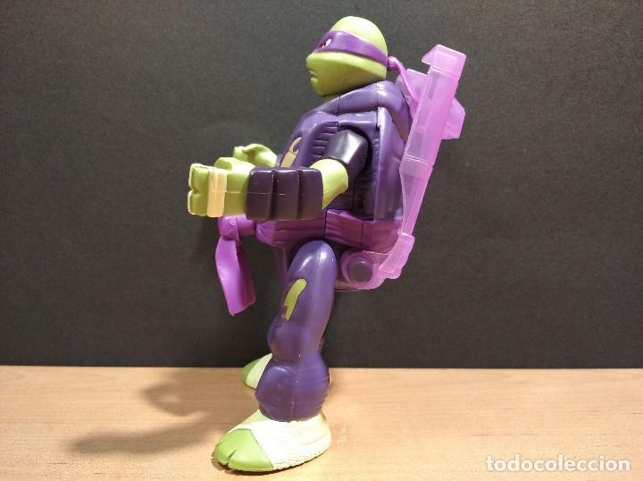 Figuras y Muñecos Tortugas Ninja: FIGURA TORTUGAS NINJAS DONATELO THROW N BATTLE-15cm aprox.-VIACOM-2013-VER FOTOS-V2 - Foto 6 - 200039651