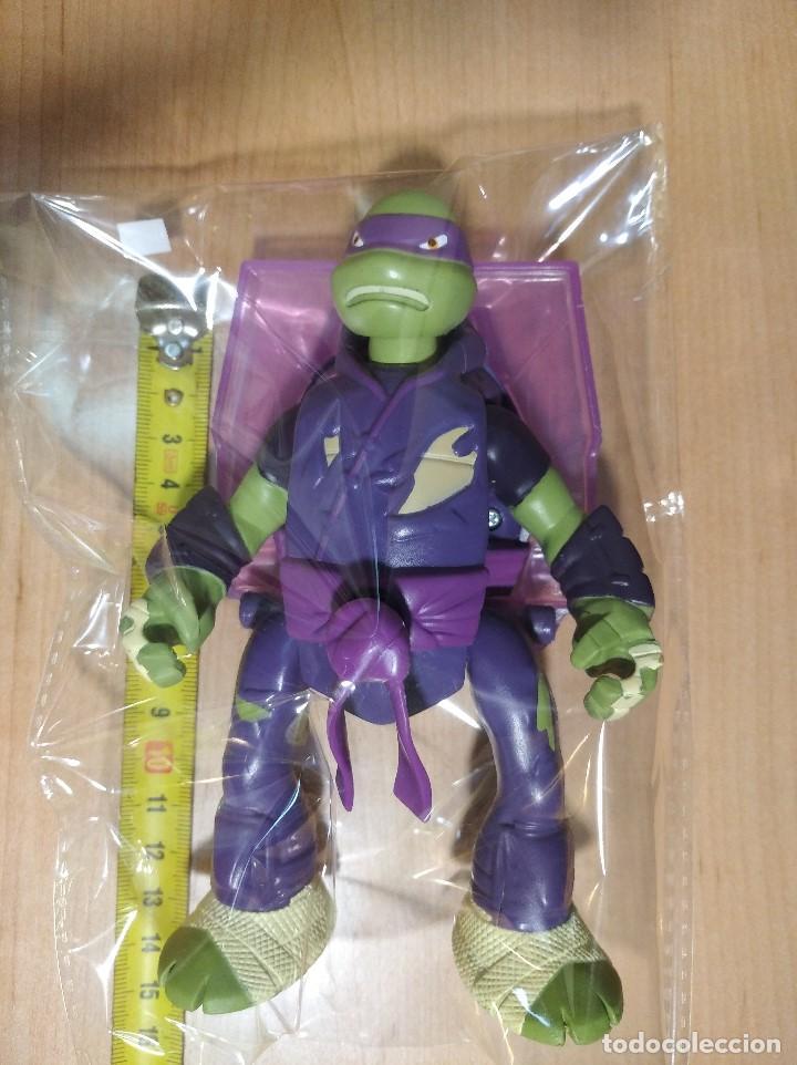 Figuras y Muñecos Tortugas Ninja: FIGURA TORTUGAS NINJAS DONATELO THROW N BATTLE-15cm aprox.-VIACOM-2013-VER FOTOS-V2 - Foto 8 - 200039651