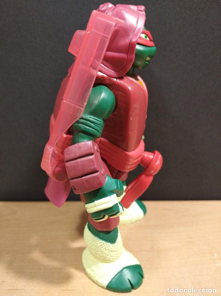Figuras y Muñecos Tortugas Ninja: FIGURA TORTUGAS NINJAS RAFAEL THROW N BATTLE-15cm aprox.-VIACOM-2013-VER FOTOS-V1 - Foto 3 - 200039851