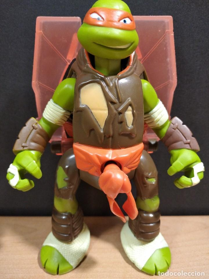 Figuras y Muñecos Tortugas Ninja: FIGURA TORTUGAS NINJAS MICHELANGELO THROW N BATTLE-15cm aprox.-VIACOM-2013-VER FOTOS-V1 - Foto 2 - 200040191