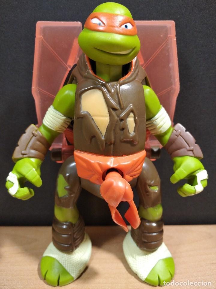 Figuras y Muñecos Tortugas Ninja: FIGURA TORTUGAS NINJAS MICHELANGELO THROW N BATTLE-15cm aprox.-VIACOM-2013-VER FOTOS-V1 - Foto 3 - 200040191