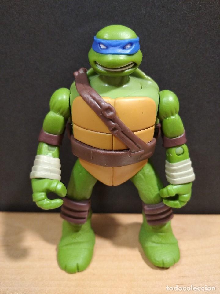Figuras y Muñecos Tortugas Ninja: FIGURA TORTUGAS NINJAS LEONARDO-11cm aprox.-VIACOM PLAYMATES-2014-VER FOTOS-V1 - Foto 2 - 200047882