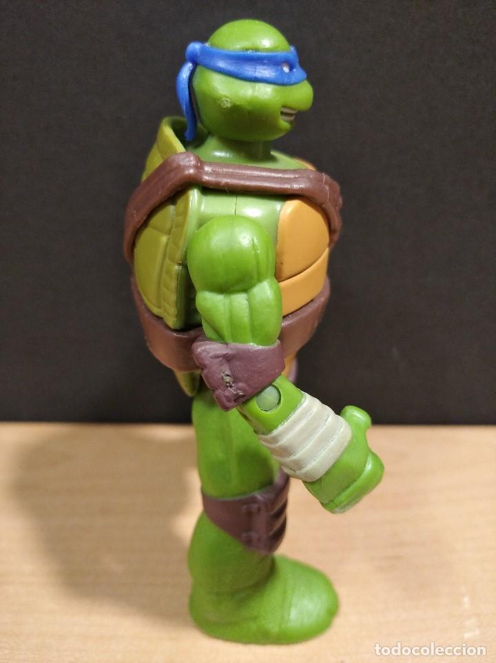 Figuras y Muñecos Tortugas Ninja: FIGURA TORTUGAS NINJAS LEONARDO-11cm aprox.-VIACOM PLAYMATES-2014-VER FOTOS-V1 - Foto 3 - 200047882