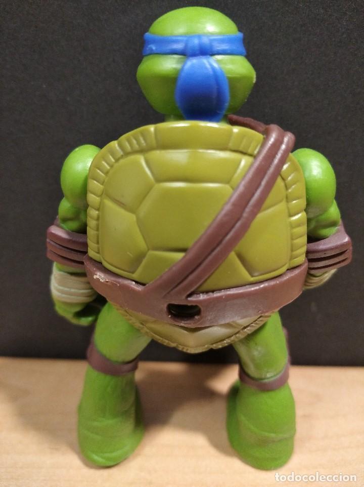 Figuras y Muñecos Tortugas Ninja: FIGURA TORTUGAS NINJAS LEONARDO-11cm aprox.-VIACOM PLAYMATES-2014-VER FOTOS-V1 - Foto 4 - 200047882