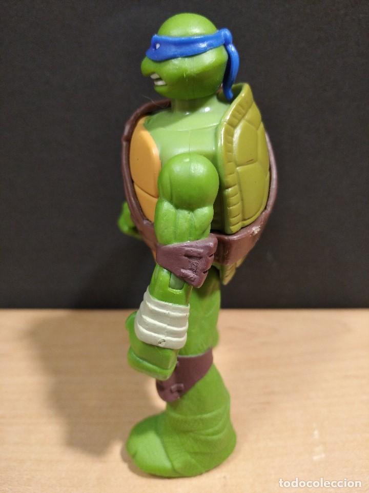 Figuras y Muñecos Tortugas Ninja: FIGURA TORTUGAS NINJAS LEONARDO-11cm aprox.-VIACOM PLAYMATES-2014-VER FOTOS-V1 - Foto 5 - 200047882