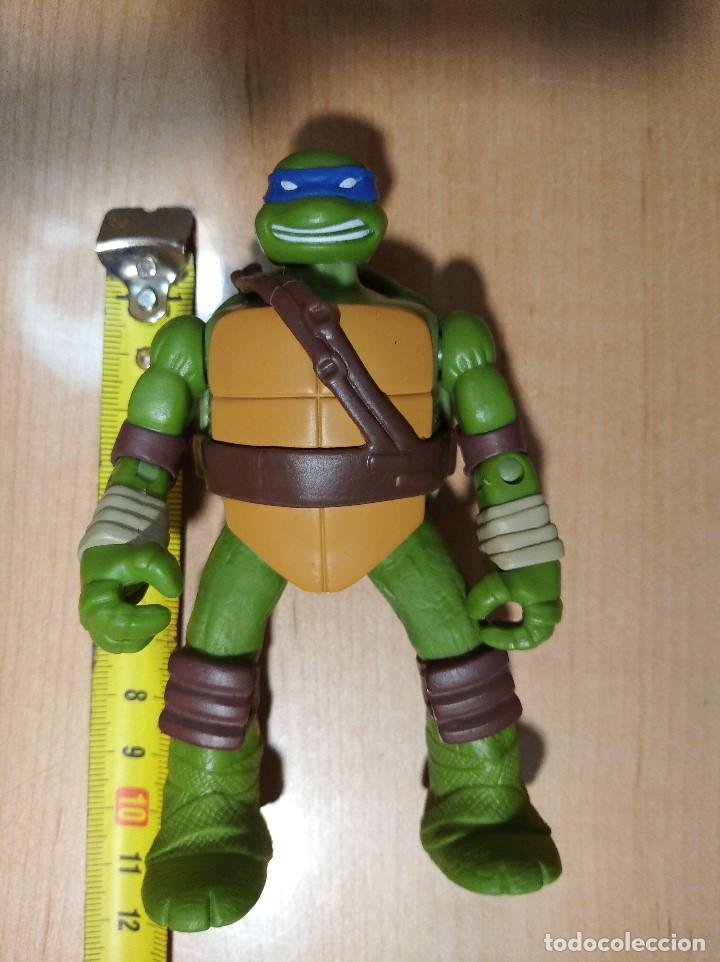 Figuras y Muñecos Tortugas Ninja: FIGURA TORTUGAS NINJAS LEONARDO-11cm aprox.-VIACOM PLAYMATES-2014-VER FOTOS-V1 - Foto 6 - 200047882