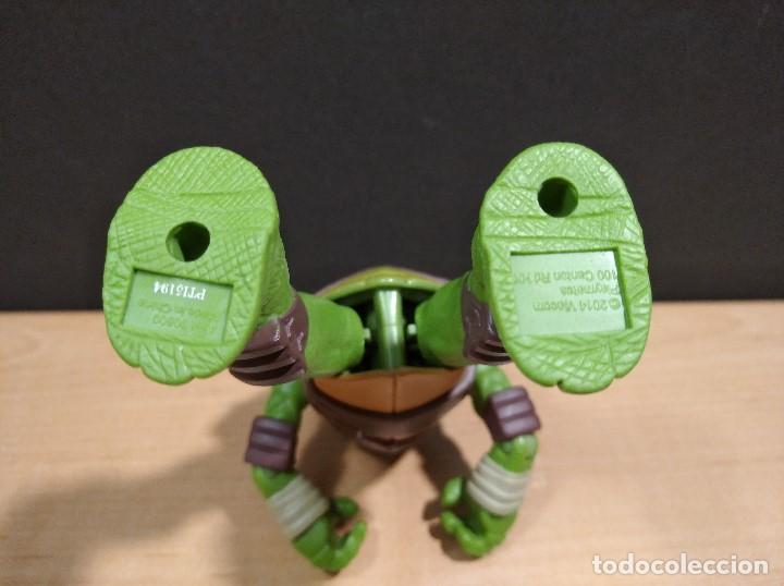 Figuras y Muñecos Tortugas Ninja: FIGURA TORTUGAS NINJAS LEONARDO-11cm aprox.-VIACOM PLAYMATES-2014-VER FOTOS-V1 - Foto 7 - 200047882