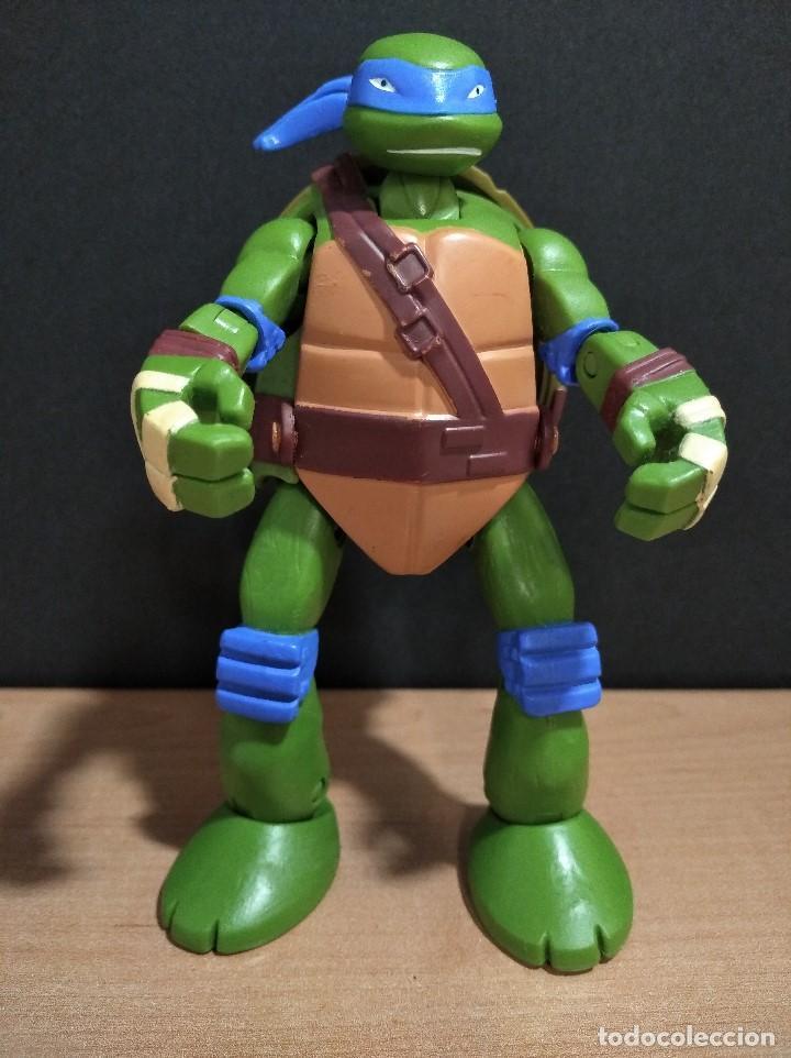 FIGURA TORTUGAS NINJAS LEONARDO MUTATIONS-14CM APROX.-VIACOM PLAYMATES-2014-VER FOTOS-V1 (Juguetes - Figuras de Acción - Tortugas Ninja)