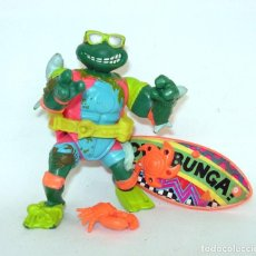 Figuras y Muñecos Tortugas Ninja: TORTUGAS NINJA SURF PLAYMATES TOYS 1990 NINJA TURTLES FIGURA DE ACCIÓN. Lote 203301201
