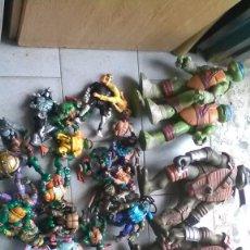 Figuras y Muñecos Tortugas Ninja: TORTUGA NINJA, GRAN LOTE, 33 UNIDADES. Lote 203197156