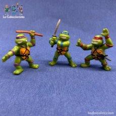 Figuras y Muñecos Tortugas Ninja: TORTUGAS NINJAS - LOTE DE 3 TORTUGAS NINJAS - YOLANDA - AÑO 1988 - DE 5 CM C/U. Lote 203798866