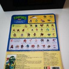 Figuras y Muñecos Tortugas Ninja: CARTON TORTUGAS NINJA ORIGINAL DE LOS 80 FIGURA ACCESORIO MUÑECO MIKE SURFERO. Lote 205562741
